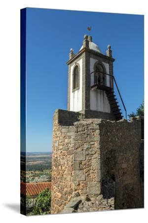 Portugal, Figueira de Castelo Rodrigo, Clock Tower-Jim Engelbrecht-Stretched Canvas Print