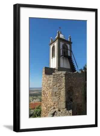 Portugal, Figueira de Castelo Rodrigo, Clock Tower-Jim Engelbrecht-Framed Photographic Print