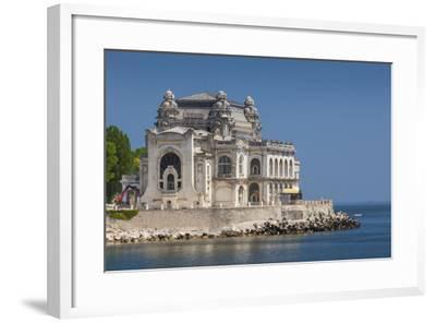Romania, Black Sea Coast, Constanta, Constanta Casino Building-Walter Bibikow-Framed Photographic Print