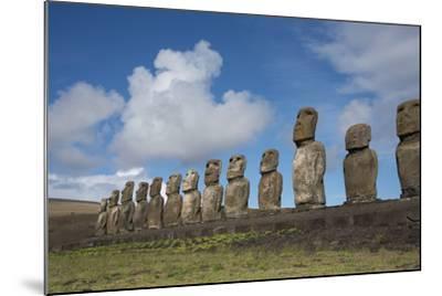 Chile, Easter Island, Hanga Nui. Rapa Nui, Ahu Tongariki. Moi Statues-Cindy Miller Hopkins-Mounted Photographic Print