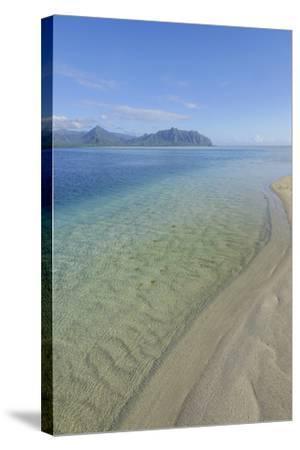 Sandbar, Kaneohe Bay, Oahu, Hawaii-Douglas Peebles-Stretched Canvas Print