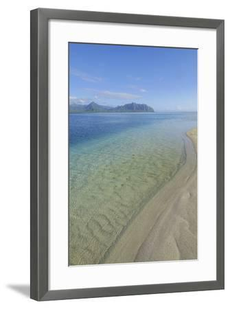 Sandbar, Kaneohe Bay, Oahu, Hawaii-Douglas Peebles-Framed Photographic Print