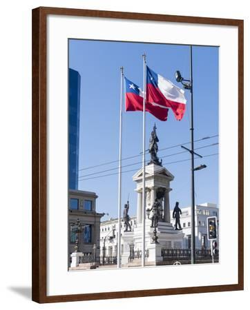 Valparaiso on the Coast. Monumento a Los Heroes de Iquique, Chile-Martin Zwick-Framed Photographic Print
