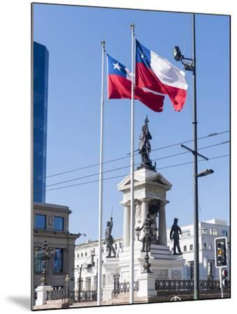 Valparaiso on the Coast. Monumento a Los Heroes de Iquique, Chile-Martin Zwick-Mounted Photographic Print