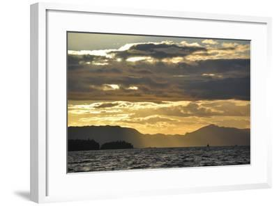 USA, Alaska, Ketchikan. Sunset North of Town-Savanah Stewart-Framed Photographic Print