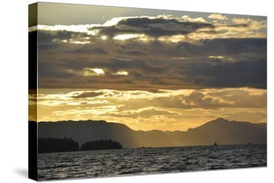 USA, Alaska, Ketchikan. Sunset North of Town-Savanah Stewart-Stretched Canvas Print