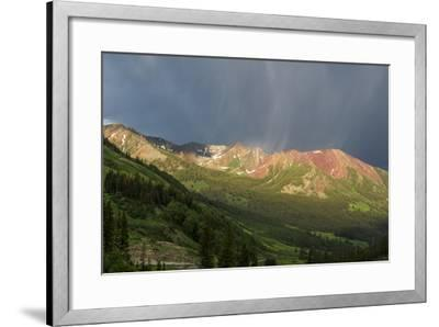 Virga and Storm Moving over Mountains in Colorado-Howie Garber-Framed Photographic Print