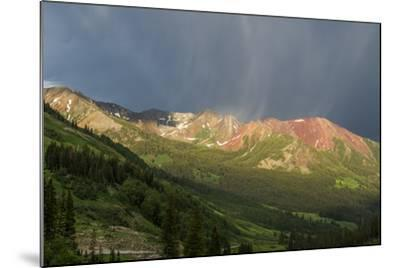 Virga and Storm Moving over Mountains in Colorado-Howie Garber-Mounted Photographic Print