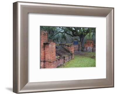 Georgia, Savannah, Burial Vaults in Historic Colonial Park Cemetery-Joanne Wells-Framed Photographic Print