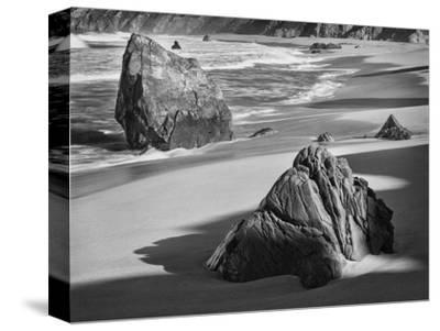 USA, California, Garrapata Beach-John Ford-Stretched Canvas Print