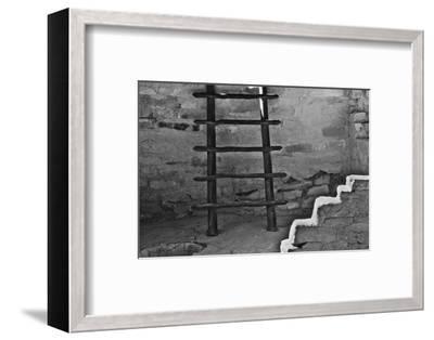 USA, Colorado, Mesa Verde, Long Ladder-John Ford-Framed Photographic Print