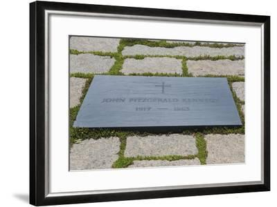 Washington DC, Arlington National Cemetery and Grave of John Kennedy-Bill Bachmann-Framed Photographic Print
