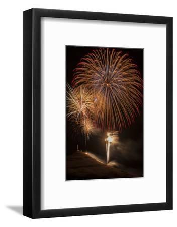 USA, Colorado, Salida. July 4th Fireworks Display-Don Grall-Framed Photographic Print