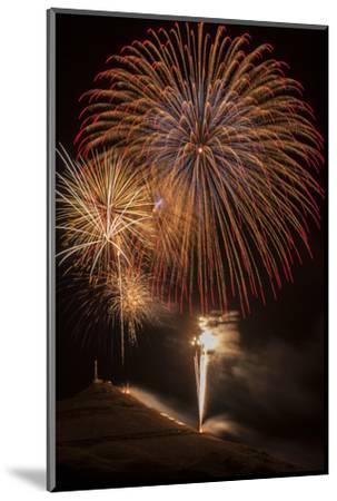 USA, Colorado, Salida. July 4th Fireworks Display-Don Grall-Mounted Photographic Print