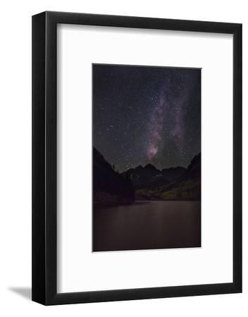 USA, Colorado. the Milky Way Above Maroon Bells Mountains and Lake-Don Grall-Framed Photographic Print