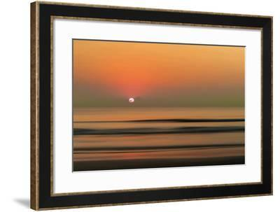 Sunset over Rippled Water-Sheila Haddad-Framed Photographic Print