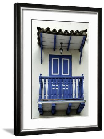 Charming Spanish Colonial Architecture, Old City, Cartagena, Colombia-Jerry Ginsberg-Framed Photographic Print