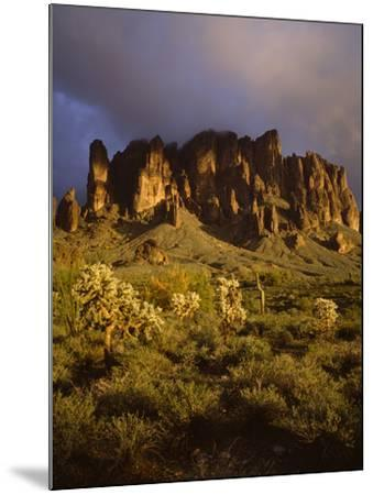 The Superstition Mountains in Lost Dutchman State Park, Arizona-Greg Probst-Mounted Photographic Print