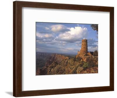 Desert View Watch Tower on the East Rim of Grand Canyon NP, Arizona-Greg Probst-Framed Photographic Print