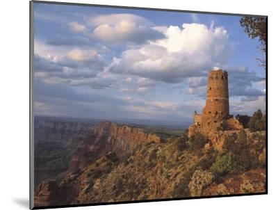 Desert View Watch Tower on the East Rim of Grand Canyon NP, Arizona-Greg Probst-Mounted Photographic Print