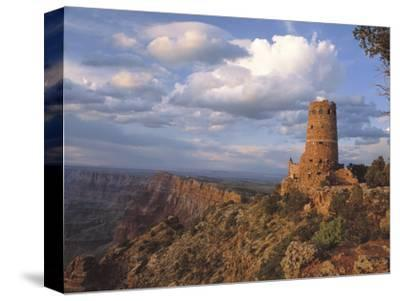 Desert View Watch Tower on the East Rim of Grand Canyon NP, Arizona-Greg Probst-Stretched Canvas Print