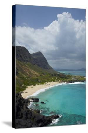 USA, Hawaii, Oahu, Makapu'u Beach-David Wall-Stretched Canvas Print