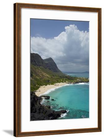 USA, Hawaii, Oahu, Makapu'u Beach-David Wall-Framed Photographic Print