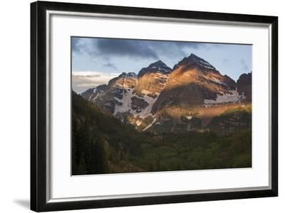 Colorado, Maroon Bells State Park. Sunrise on Maroon Bells Mountains-Don Grall-Framed Photographic Print