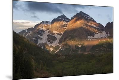 Colorado, Maroon Bells State Park. Sunrise on Maroon Bells Mountains-Don Grall-Mounted Photographic Print