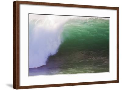 Hawaii, Oahu, Large Waves Along the Pipeline Beach-Terry Eggers-Framed Photographic Print
