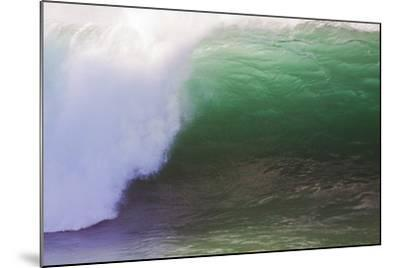 Hawaii, Oahu, Large Waves Along the Pipeline Beach-Terry Eggers-Mounted Photographic Print