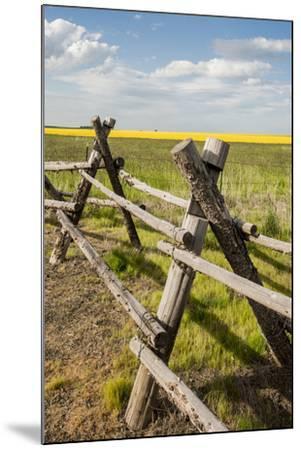 Idaho, Camas Prairie, Wooden Fence at Tolo Lake Access Area-Alison Jones-Mounted Photographic Print