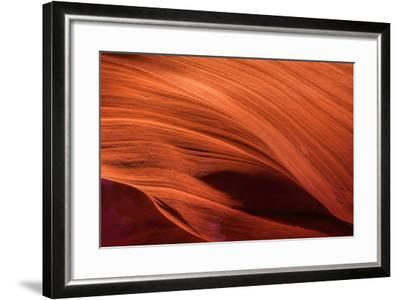 USA, Arizona, Paige. Rock Patterns in Antelope Canyon-Jay O'brien-Framed Photographic Print