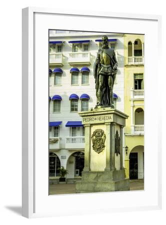 Pedro de Heredia, Plaza de Los Coches, Cartagena, Colombia-Jerry Ginsberg-Framed Photographic Print