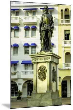 Pedro de Heredia, Plaza de Los Coches, Cartagena, Colombia-Jerry Ginsberg-Mounted Photographic Print