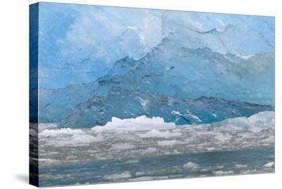 USA, Alaska, Endicott Arm. Blue Ice and Icebergs-Don Paulson-Stretched Canvas Print