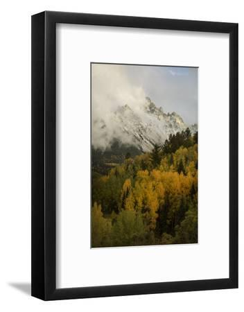 Colorado, Sneffels Range. Clouds over Mountain Landscape at Sunset-Don Grall-Framed Photographic Print
