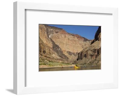 USA, Arizona, Grand Canyon National Park. Kayakers on Colorado River-Don Grall-Framed Photographic Print