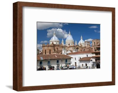 Cathedral of the Immaculate Conception, Built in 1885, Cuenca, Ecuador-Peter Adams-Framed Photographic Print
