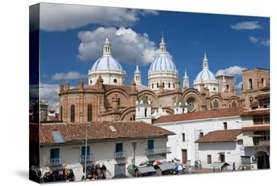 Cathedral of the Immaculate Conception, Built in 1885, Cuenca, Ecuador-Peter Adams-Stretched Canvas Print