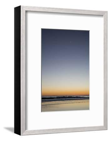 California, Carpinteria, Santa Barbara Channel, Beach at a Night-Alison Jones-Framed Photographic Print
