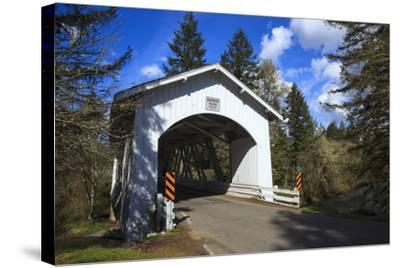 USA, Oregon, Hannah Bridge-Rick A Brown-Stretched Canvas Print