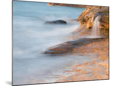 Michigan, Upper Peninsula. Waterfall Along the Edge of Lake Superior-Julie Eggers-Mounted Photographic Print