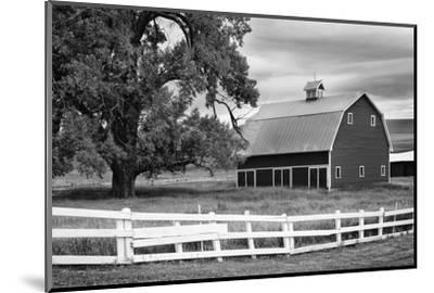 USA, Washington. Barn and Wooden Fence on Farm-Dennis Flaherty-Mounted Premium Photographic Print