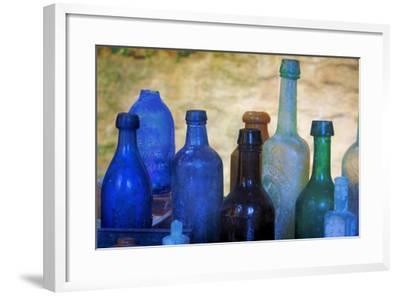 South Carolina, Charleston. Old Bottles Excavated from Slave Quarters-Don Paulson-Framed Photographic Print