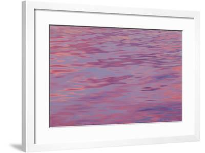 USA, Washington State, Hood Canal. Sunset Reflections on Water-Don Paulson-Framed Photographic Print