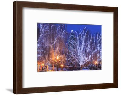 Christmas Lighting Festival, Leavenworth, Bavarian Village, Washington-Stuart Westmorland-Framed Photographic Print
