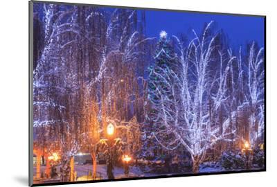 Christmas Lighting Festival, Leavenworth, Bavarian Village, Washington-Stuart Westmorland-Mounted Photographic Print