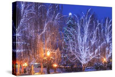 Christmas Lighting Festival, Leavenworth, Bavarian Village, Washington-Stuart Westmorland-Stretched Canvas Print