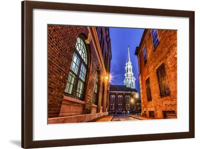 The North Church as Seen from Market Square, Portsmouth, New Hampshire-Jerry & Marcy Monkman-Framed Photographic Print